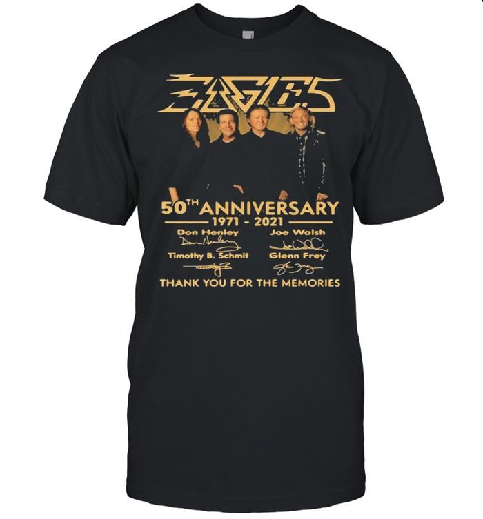 50th Anniversary 1971 2021 Don Henley Joe Walsh Timothy B. Schmit Scott Crago Signature shirt
