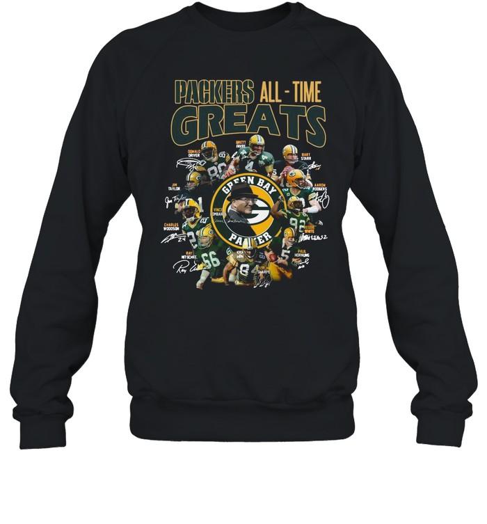Packers All Time Greats Team Signature shirt Unisex Sweatshirt