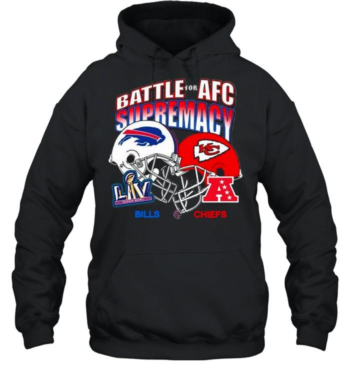 Bills Vs Chiefs Battle For Adc Supremacy 2021 shirt Unisex Hoodie