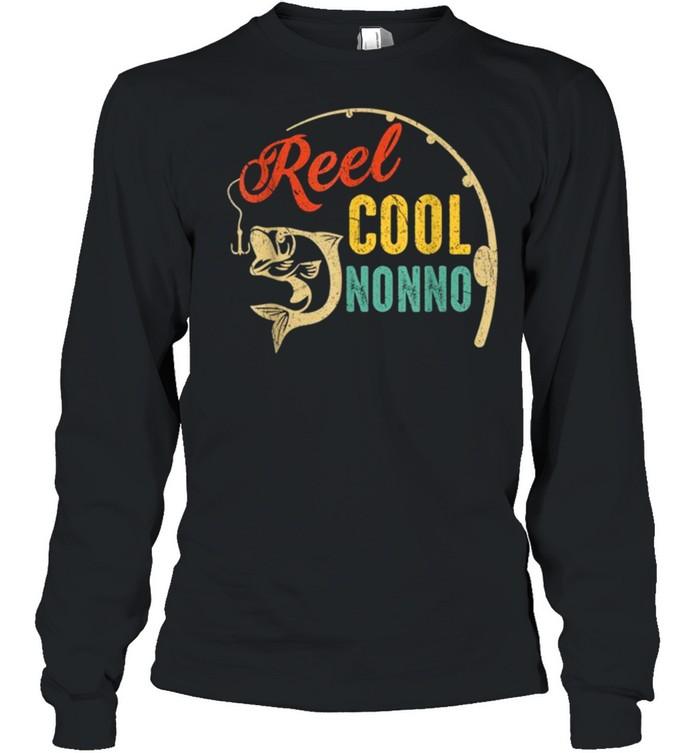 Vintage Fishing Reel Cool Nonno shirt Long Sleeved T-shirt