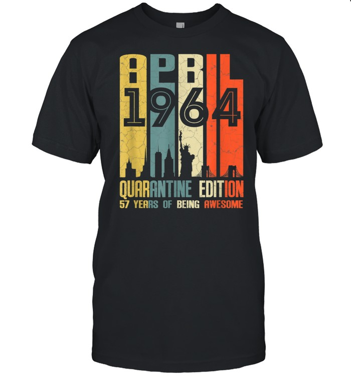57 Years Old 57th Birthday Decoration April 1964 shirt