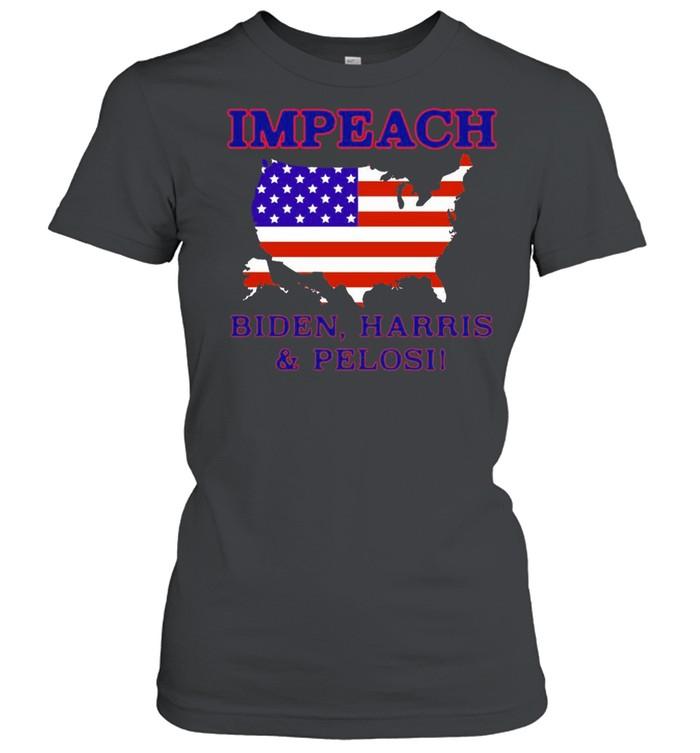 Impeach Biden Harris And Pelosi American  Classic Women's T-shirt