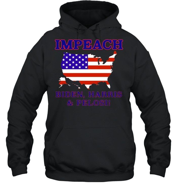 Impeach Biden Harris And Pelosi American  Unisex Hoodie
