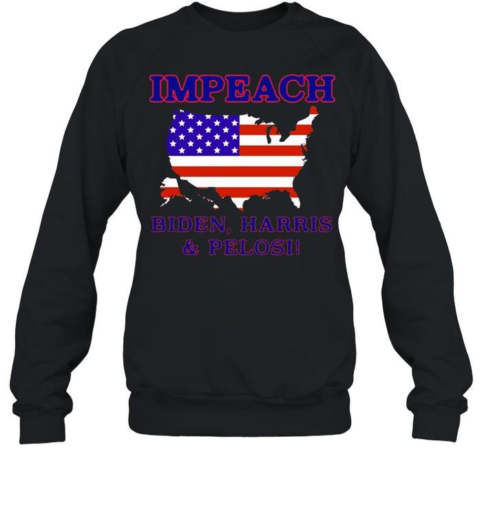 Impeach Biden Harris And Pelosi American  Unisex Sweatshirt