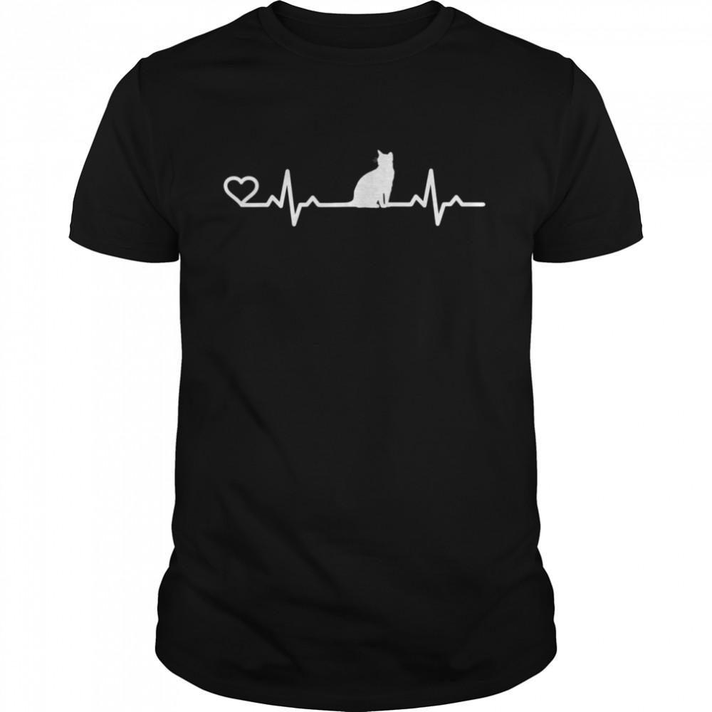 Heartbeat cat cat love animal friend shirt