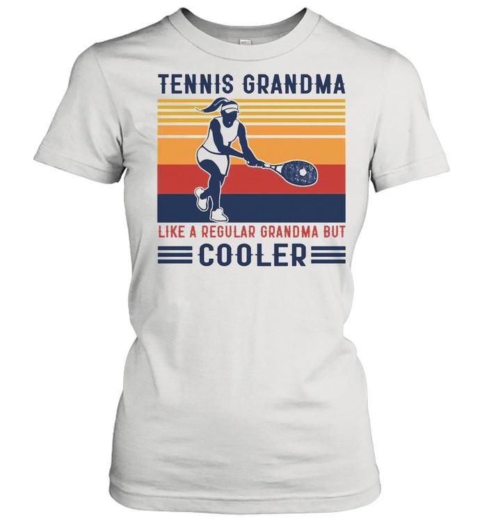 Tennis Grandma Like A Regular Grandma But Cooler Graphic T-shirt Classic Women's T-shirt
