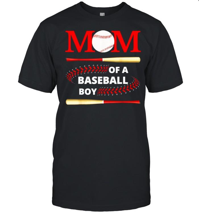 Mom Of A Baseball Boy Softball Player Mom Mothers Day Shirt