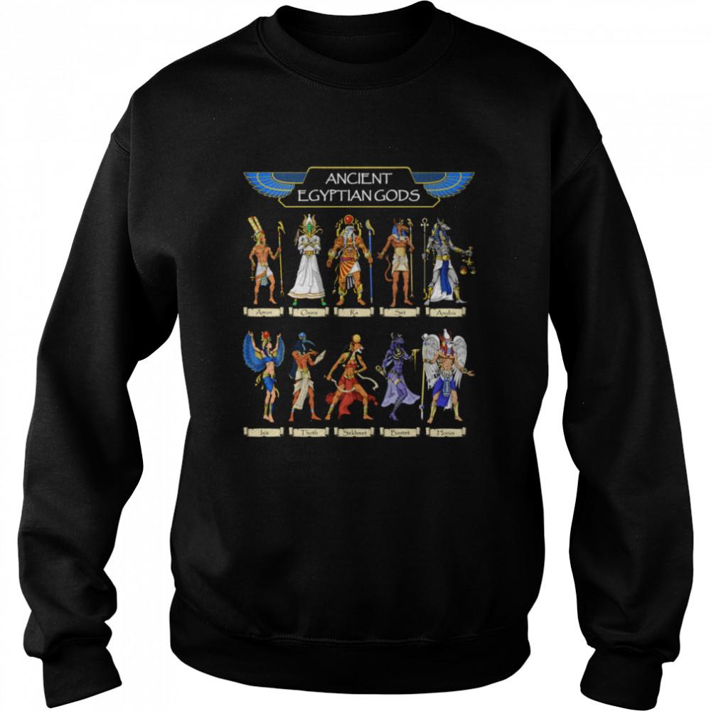 Egyptian Gods Ancient Mythology Pharaoh Anubis Thoth Horus  Unisex Sweatshirt