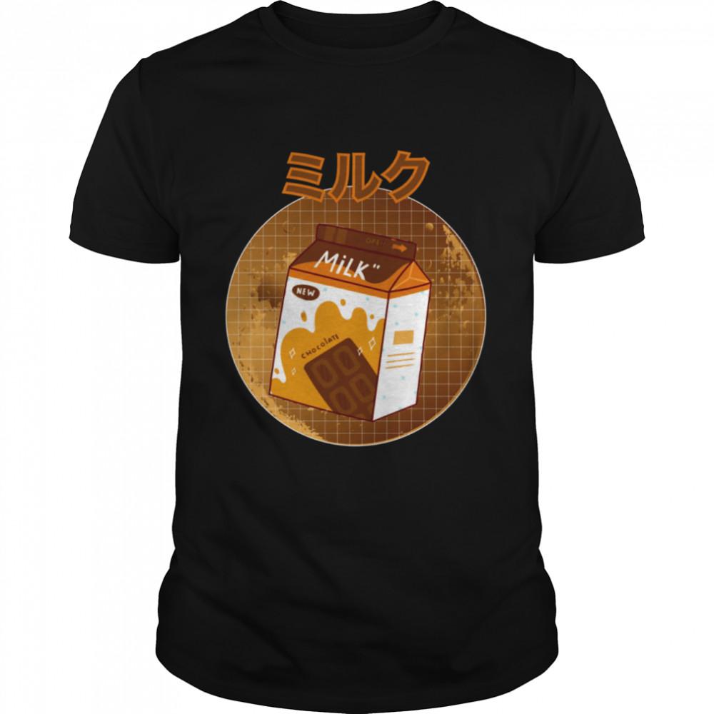 Japanese Kawaii Chocolate Retro 90s Milk Shake Carton Shirt