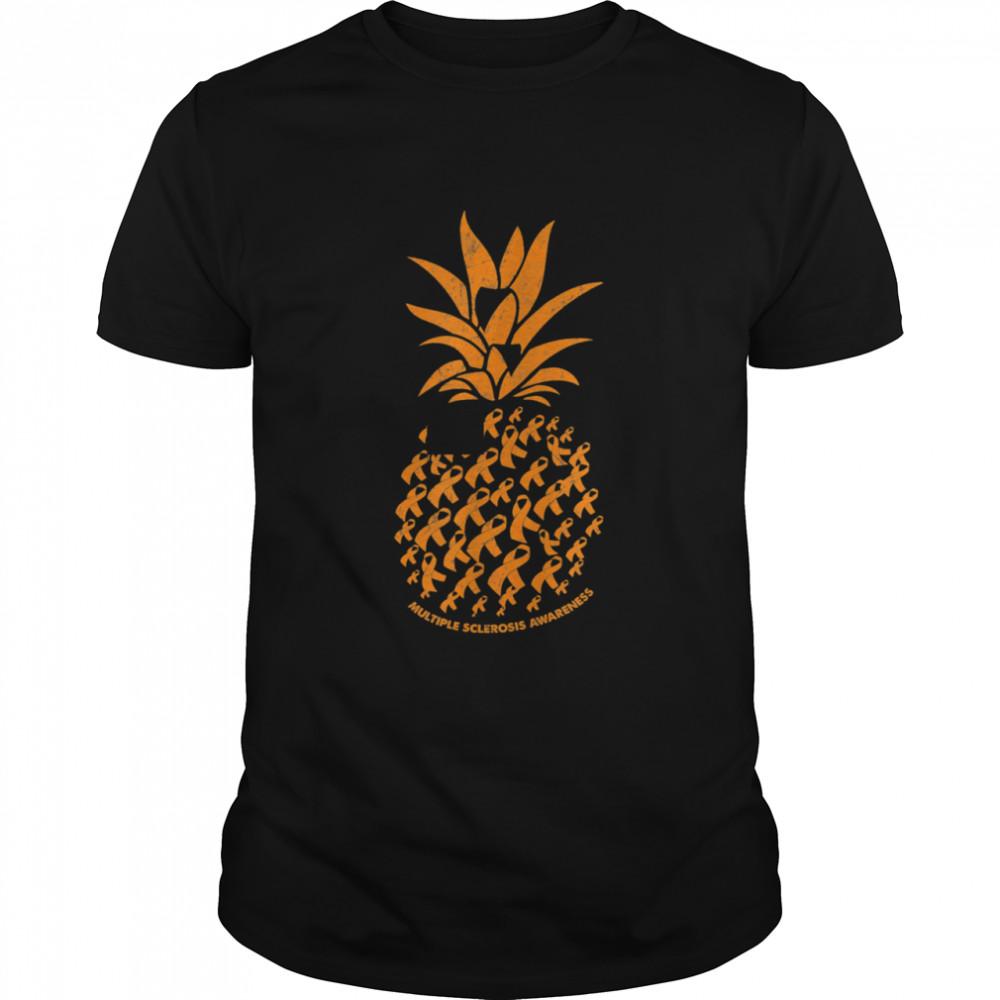 Pineapple Multiple Sclerosis Awareness Costume Ribbon Shirt