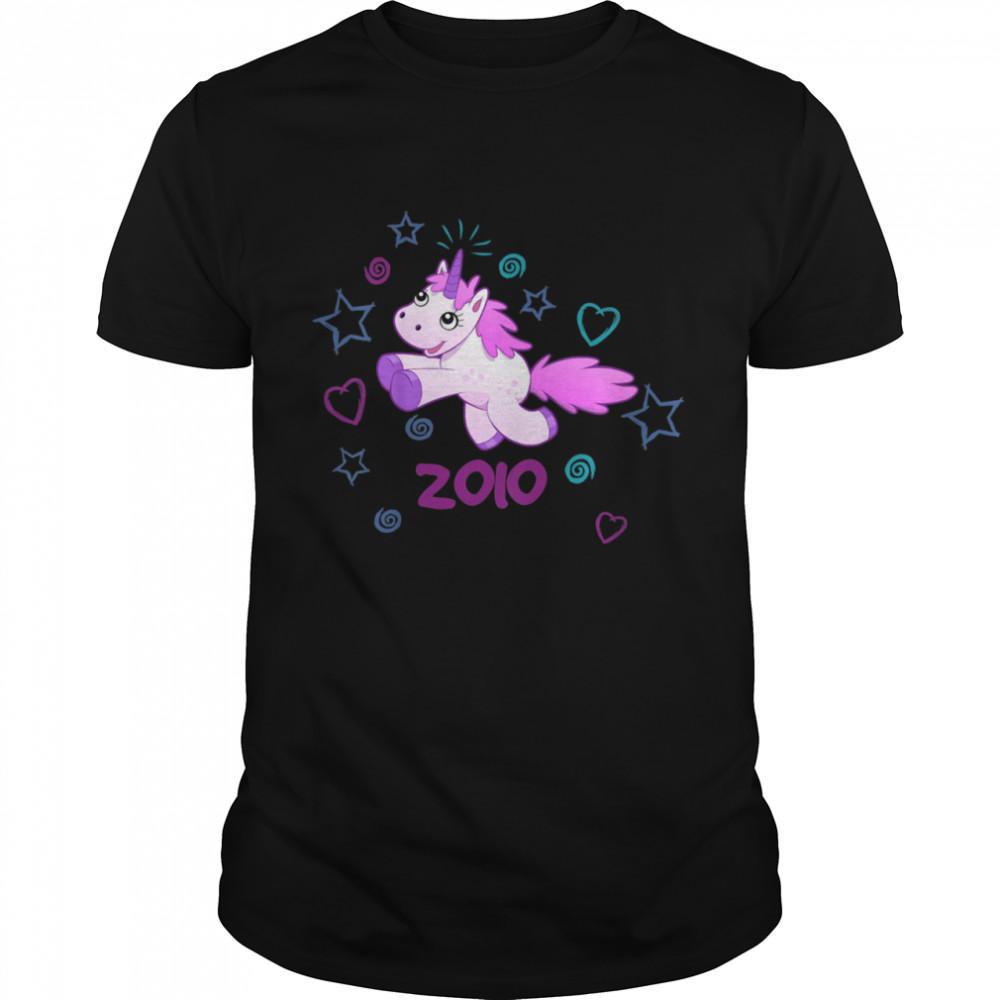 Kids Birthday Vintage 2010 Unicorn Girl shirt