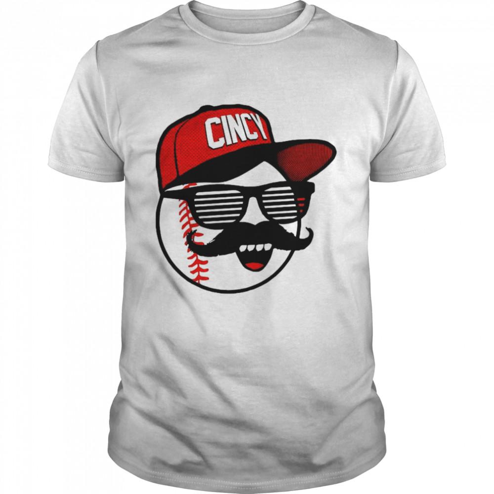 Cincy Shirts Baseball – Mlbpa, Johnny Bench Mr. Red Shades shirt