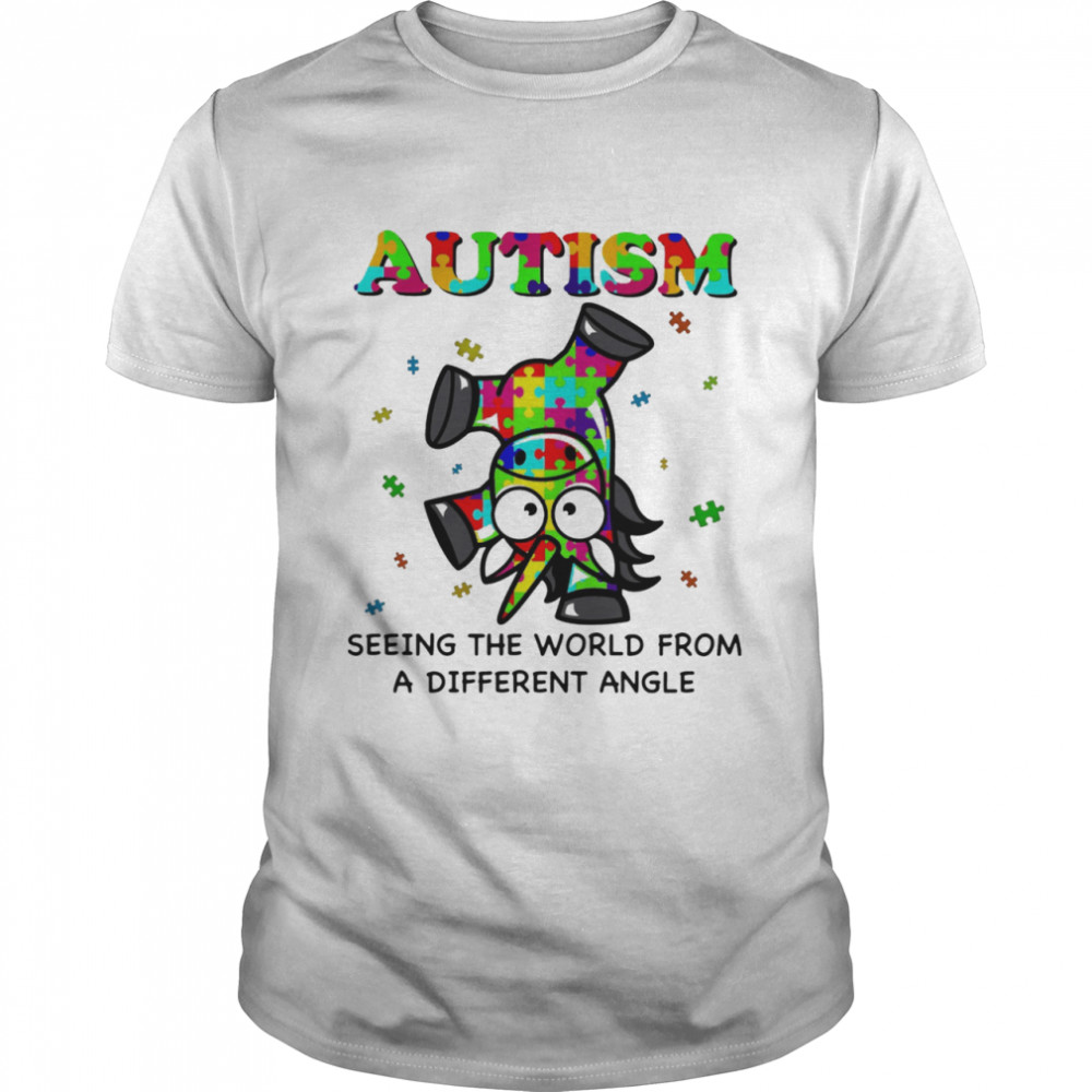 Autism Seeing The World From A Different Angle Unicorn Shirt