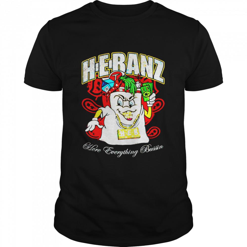 Hebanz drown x isaac cross here everything bussin shirt