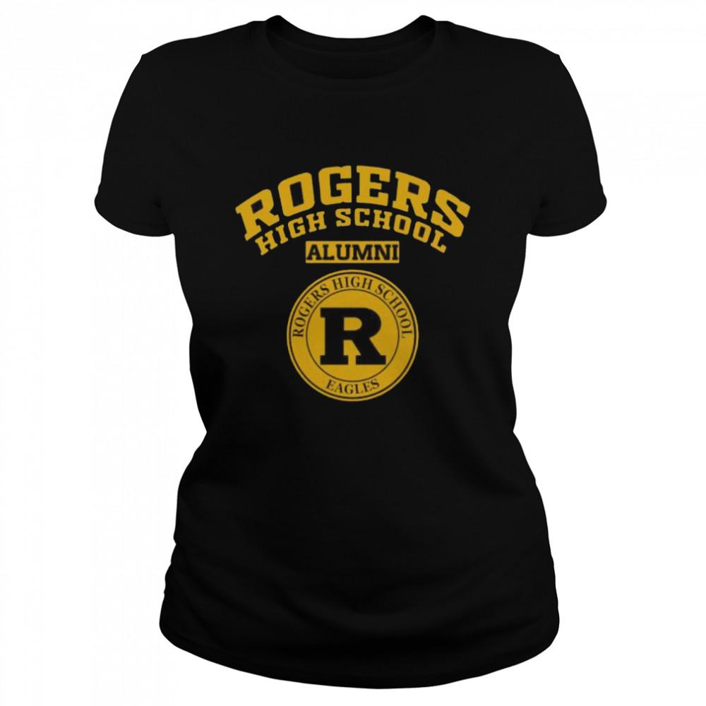 Rogers High School Logo Alumni  Classic Women's T-shirt