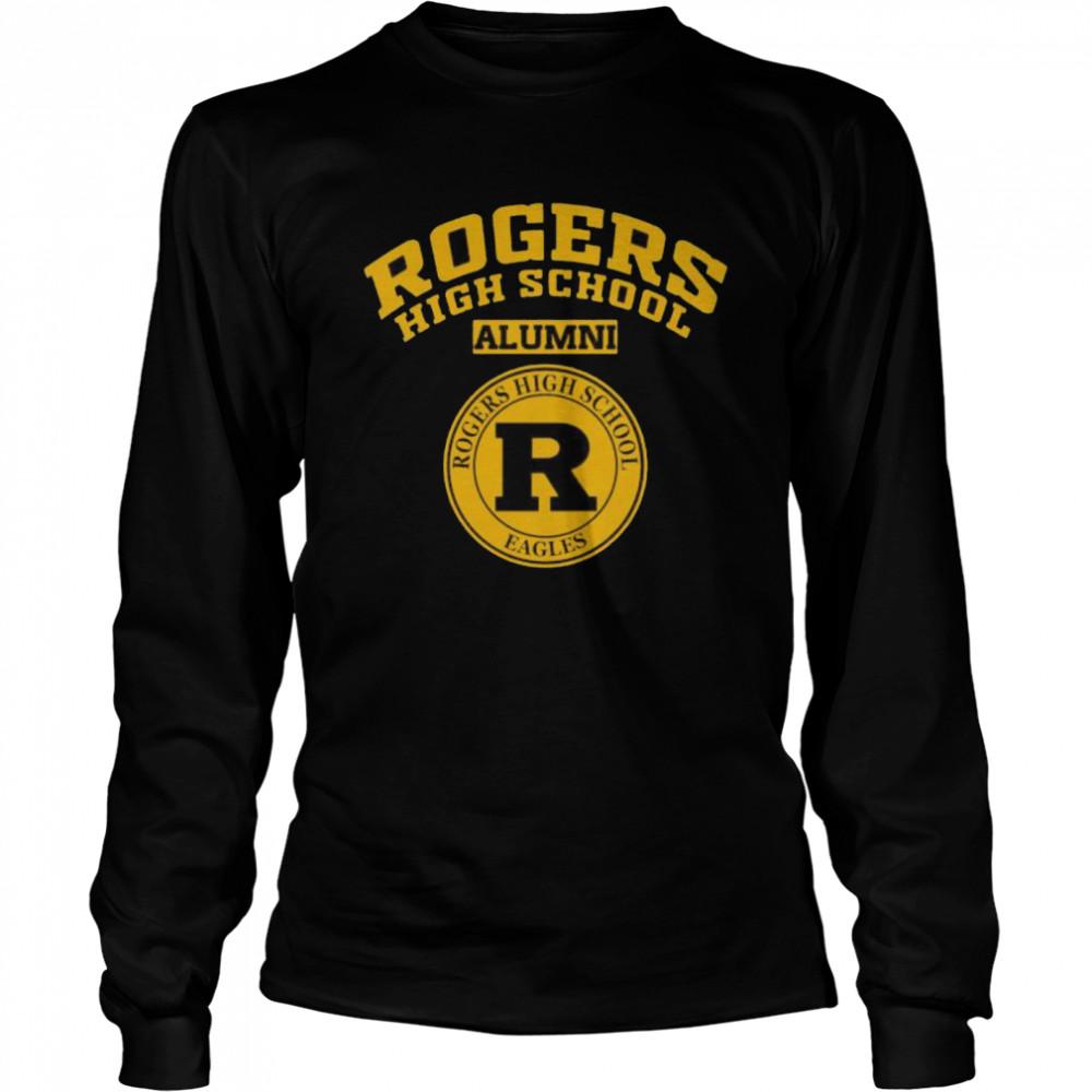 Rogers High School Logo Alumni  Long Sleeved T-shirt
