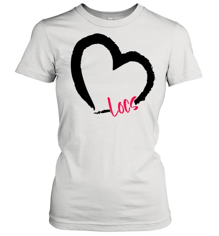 GGT Self Love Heart Natural Hair Locs Goddess Melanin  Classic Women's T-shirt