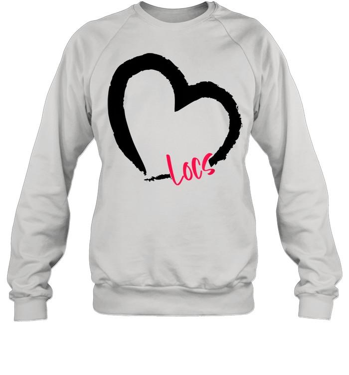 GGT Self Love Heart Natural Hair Locs Goddess Melanin  Unisex Sweatshirt