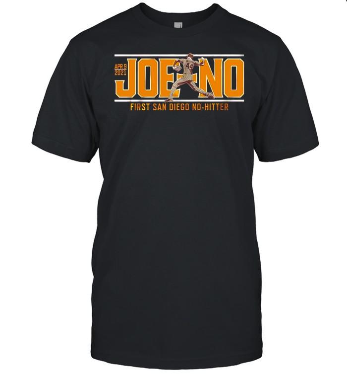 Joe Musgrove Joe-No first San Diego No-Hitter shirt