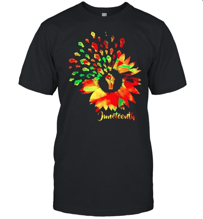 Juneteenth sunflower shirt