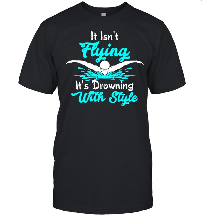 It isnt flying its drawing with style shirt