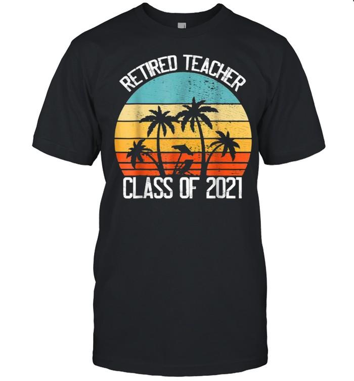 Retired Teacher Class of 2021 Vintage T-Shirt