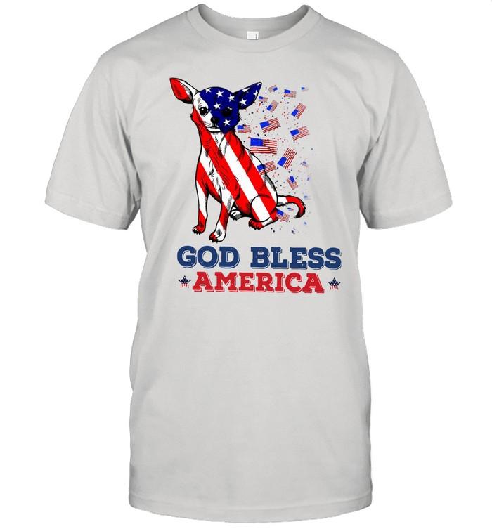 American Flag Chihuahua God Bless America Gift T-shirt