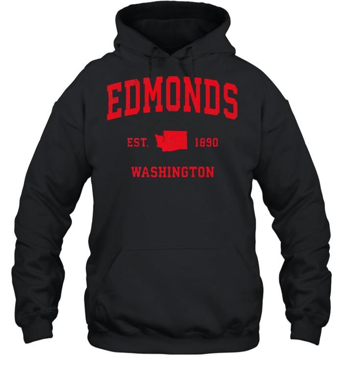 Edmonds Washington WA Est 1890 Vintage Sports T- Unisex Hoodie